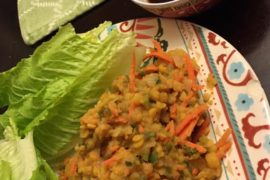recipe: split pea and green onion lettuce wraps